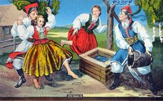 Śmigus-dyngus - Wikipedia - Useful ideas for the Ordinary's spring flood festivals (re: willows instead of palms, etc.)