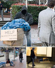 Vagabundos fantasma piden ayuda en la calle - Dando Guerrilla: marketing