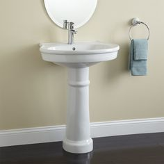 pedestal sinks for small spaces - best paint for interior walls Check more at http://grobyk.com/pedestal-sinks-for-small-spaces-best-paint-for-interior-walls/