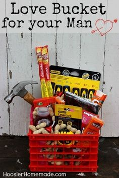 Valentine's Day Love Bucket for your Man