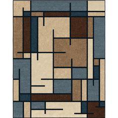 allen + roth Addington Liberty Blue Rectangular Indoor Machine-made Southwestern Area Rug (Common: 8 x 10; Actual: 7-ft W x 10-ft L)