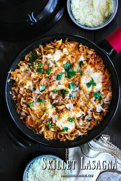 awesome Skillet Lasagna + VIDEO...