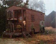 Rolling handmade home. Handmade Home, Glamping, Gypsy Caravan, Gypsy Wagon, Gypsy Trailer, Campervan Interior, Decoration Design, House On Wheels, Tiny Homes On Wheels