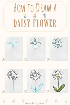Flower Drawing For Kids, Simple Flower Drawing, Easy Flower Drawings, Flower Drawing Tutorials, Simple Flowers, Easy Drawings, Flower Drawing Tutorial Step By Step, Learn To Draw, Daffodils