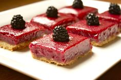 Blackberry Limeade Bars recipe...