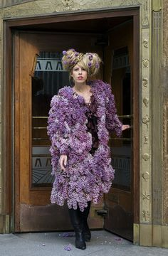 Lilac Swing Coat - fresh lilac flowers