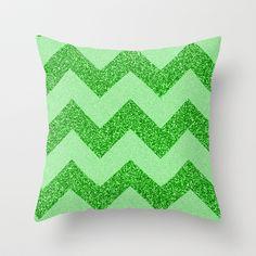 Chevron+Jade+Throw+Pillow+by+Alice+Gosling+-+$20.00