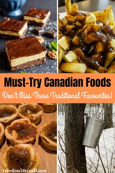 Traditional and authentic Canadian Food is some of the best in the world! From appetizers to dinner to dessert, Canadian food is guaranteed to satisfy. See all the best authentic Canadian food here, including recipes and video! Canadian Dishes, Canadian Cuisine, Canadian Food, Canadian Recipes, Canadian Travel, Swiss Recipes, French Recipes, Quebec, Canada Winter