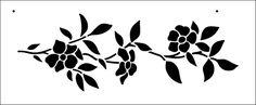 Spring Flowers stencil from The Stencil Library BUDGET STENCILS range. Buy stencils online. Stencil code BB17.