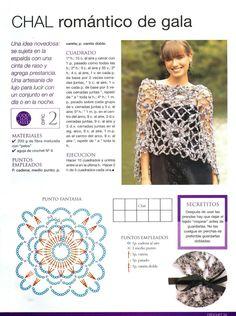 358 Chales Patrones para Tejer - Patrones Crochet                                                                                                                                                      Más