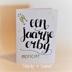 #kaart #handlettering #verjaardag #birthday www.sturdyandsweet.jouwweb.nl