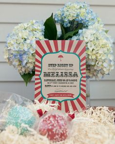 Vintage Carnival Themed Bridal Shower