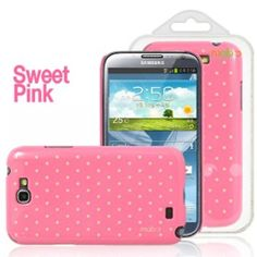 Amazon.com: MobC Galaxy Note 2 / II / N7100 Case ColorPop Cotton Candy - Slim Fit Polka Dot - Screen Protector / Home Button Included - Retail Packaging - Sweet Pink: Cell Phones & Accessories