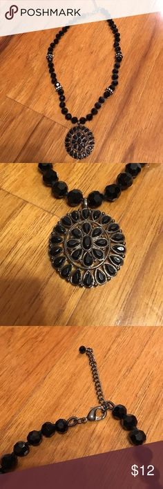 Black necklace Black crystal necklace with rhinestones Jewelry Necklaces