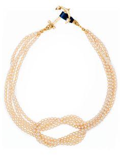 square knot necklace // KJP