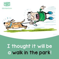 Idiom of the day: Walk in the park. Meaning: Something very easy to do. #idiom #idioms #english #learnenglish #walk #park