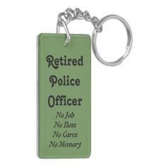 Retired Police Officer Keychain