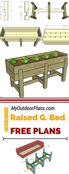 how to build a raised garden bed with legs youtube