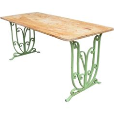 Vintage wrought iron table-- be on the lookout for wrought iron upcycles