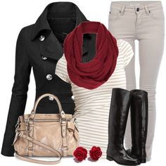 Winter Outfits | Pea Coat | Fashionista Trends // Love this all except the bag. Not quite my style.