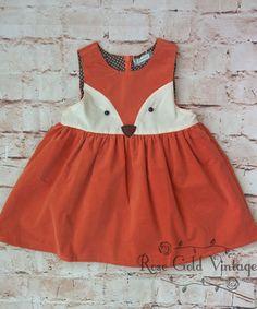 Corduroy Fox Dress (Toddler)
