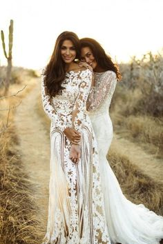 Zuhair Murad nude/champagne wedding gown. The Wedding Scoop Spotlight: Coloured and Non-white Wedding Dresses