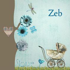 Design Birth Announcement / Geboortekaartje by Ikbenernet www.kaartje2go.nl