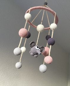 Mobile baby Mobile baby Source by gerdiawius Crochet Baby Mobiles, Crochet Mobile, Crochet Baby Toys, Crochet Home, Diy Crochet, Baby Knitting, Crochet Baby Jacket, Baby Afghan Crochet, Modern Crochet Blanket
