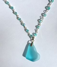 Sea Glass Necklace by Sparklesbythesea on Etsy https://www.etsy.com/listing/492478818/sea-glass-necklace
