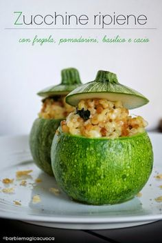 Zucchine ripiene con fregola e cacio | Barbie magica cuoca - blog di cucina