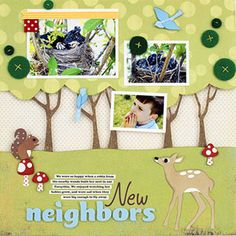 NATURE-SCENE PAPER PIECINGS - Download free paper-piecing patterns for a collection of trees, birds, deer, and more! Then get more ideas for adapting these designs from three never-before-seen scrapbook pages.