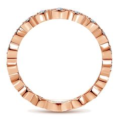 14k Pink Gold Stackable Ladies' Ring