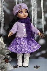 "~SNoWFLaKeS & SuGaRPLuMs~..a sweet handknit sweater,hat,scarf,and skirt for Tonner Patsy, Ann Estelle, Sophie, Georgia, or Petite Filles 10"" dolls. Created with love for your special doll. The button on the hat shimmers and is so beautiful your Patsy will LOVE! Fits similar sized dolls also like Bitty Bethany by Kish. This outfit is made to order, order if off my website and it will be at your door in 2+ weeks, depending upon the USPS delivery. Click the pix to take you there to order."