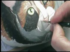 Watch how Ernestina Gallina paints Lucy on a rock. This is Part 1 of 3.