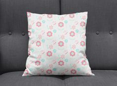 Shabby chic cushion, Floral cushions, Pastel cushion, Floral throw pillow, Bedroom accessories, Girls bedroom decor, Nursery decor, Cushions by ShadowbrightLamps on Etsy https://www.etsy.com/uk/listing/641430575/shabby-chic-cushion-floral-cushions