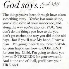God says...