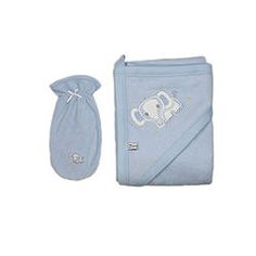 Blue Towel and Washcloth with Elephant Blue Towels, Beautiful Babies, Elephant, Clothing, Cotton, Baby, Small Bouquet, Outfits, Elephants