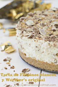 Tarta de Filipinos blancos y Werther's original Poke Cakes, Cheesecakes, Yummy Cakes, Tiramisu, Cake Recipes, Banana, The Originals, Sweet, Ethnic Recipes