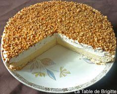 """Tarte brésilienne de Belgique (la préparation dite """"brésilienne"""" est constituée de noisettes broyées, torréfiées et caramélisées)"""