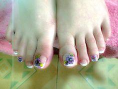 Cute Pedicures, Pedicure Nails, Manicure, Toe Nail Art, Toe Nails, Toe Nail Designs, Veronica, Hair And Nails, Nail Polish