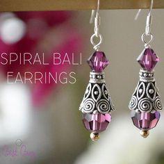 Spiral bali earrings. So great for everyday wear!