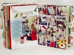 Christmas scrapbook.  Photo just for inspiration.  Site has closed.