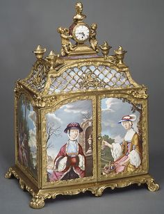 *Jewel cabinet with watch; 1765-70