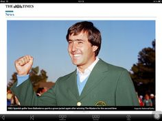 Seve Ballesteros wins his second Masters title in 1983