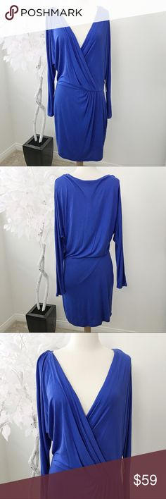 Haute Hippie Blue Longsleeve Dress Haute Hippie Blue Longsleeve Dress Size: M Length: 37in Bust, Waist: 22in, 14in Condition: NWT Rich blue long sleeve 100% modal dress by Haute Hippie. Perfect for a night out. Item is brand new.  Inv: GH **All items from my closet come from a SMOKE FREE home** 💕 Haute Hippie Dresses Midi