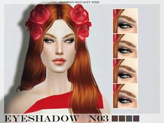 The Sims Resource: FRS Eyeshadow N03 by FashionRoyaltySims • Sims 4 Downloads
