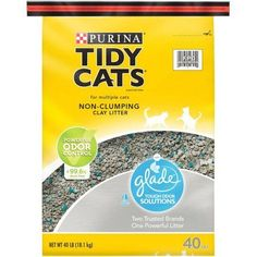 Purina Tidy Cats Non-Clumping Litter for Multiple Cats with Glade, 40 lb Bag