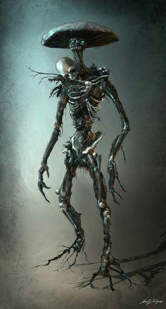Death Cap by Jake Raymor : creepy Monster Art, Fantasy Monster, Monster Design, Creepy Monster, Monster High, Dark Fantasy Art, Fantasy Artwork, Dark Art, Dark Creatures