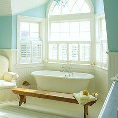 Dream bathroom... something about a claw-foot tub