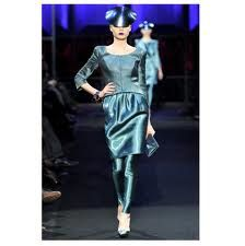 Giorgia Armani Spring Couture 2011, women wearing skirt similar to peg-top skirt seen in early 1900's